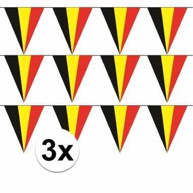 3x belgische vlaggenlijn slinger 5 meter