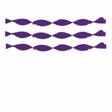 Feestwinkel | 3x crepe feest slingers paars morgen amsterdam