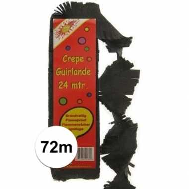 Feestwinkel   3x feest slingers zwart 24 meter morgen amsterdam
