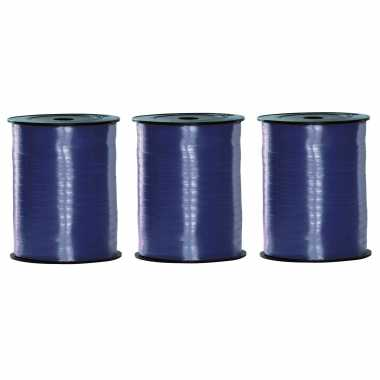 Feestwinkel | 3x rollen blauw krullint 500 meter x 5 milimeter morgen amsterdam