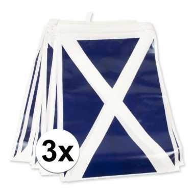 Feestwinkel | 3x schotland vlaggenlijnen morgen amsterdam