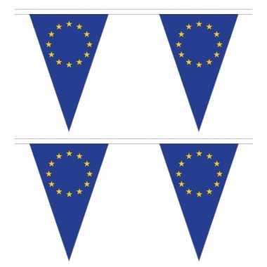 Feestwinkel | 3x stuks europa slinger met puntvlaggetjes 5 meter morgen amsterdam