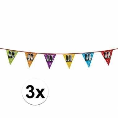 3x vlaggenlijn 11 jaar feestje