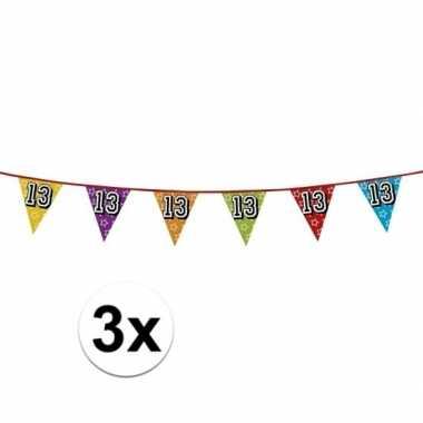3x vlaggenlijn 13 jaar feestje