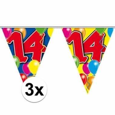 Feestwinkel | 3x vlaggenlijn 14 jaar 10 meter morgen amsterdam