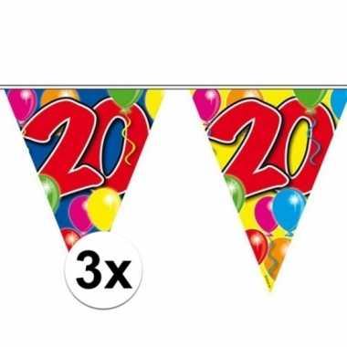 Feestwinkel | 3x vlaggenlijn 20 jaar 10 meter morgen amsterdam