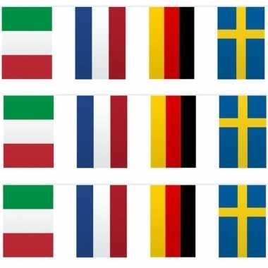 Feestwinkel | 3x vlaggetjeslijn europa 10 meter morgen amsterdam