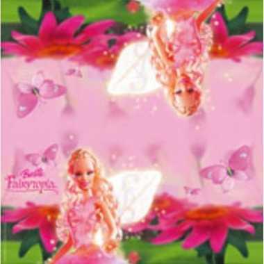 40x barbie feest servetten fairytopia roze 33 x 33 cm kinderverjaardag