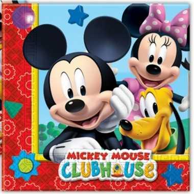 Feestwinkel | 40x mickey mouse feest servetten 33 x 33 cm kinderverja