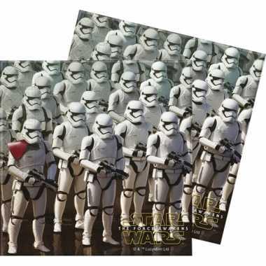 Feestwinkel | 40x star wars feest servetten 33 x 33 cm kinderverjaard