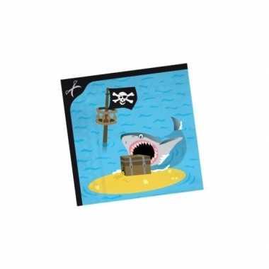 Feestwinkel | 40x stuks servetten piraten eiland morgen amsterdam