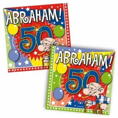 Feestwinkel | 40x vijftig/50 jaar abraham feest servetten ballonnen 2