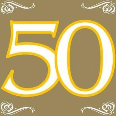 Feestwinkel | 40x vijftig/50 jaar feest servetten 33 x 33 cm verjaard