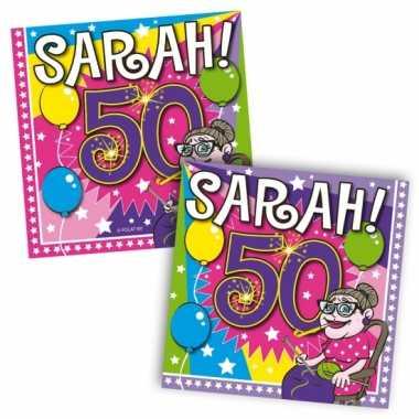 Feestwinkel | 40x vijftig/50 jaar sarah feest servetten ballonnen 25