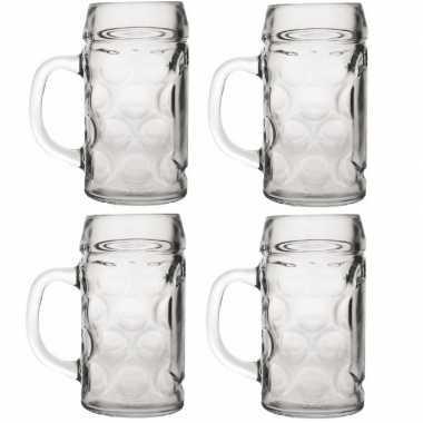 Feestwinkel | 4x bierpullen/bierglazen van 1 liter morgen amsterdam