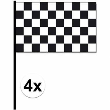 Feestwinkel | 4x finish zwaaivlaggetjes autoracing morgen amsterdam