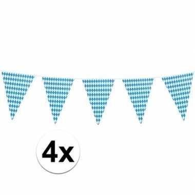 Feestwinkel | 4x xl oktoberfest vlaggenlijnen 8 m morgen amsterdam