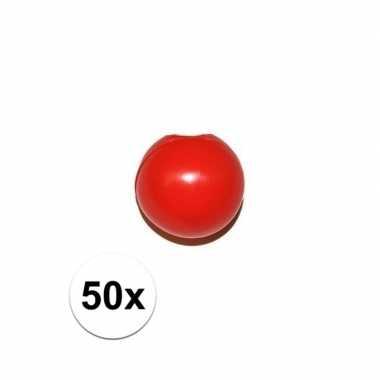 Feestwinkel | 50x rode clowns neus/neuzen zonder elastiek morgen amst