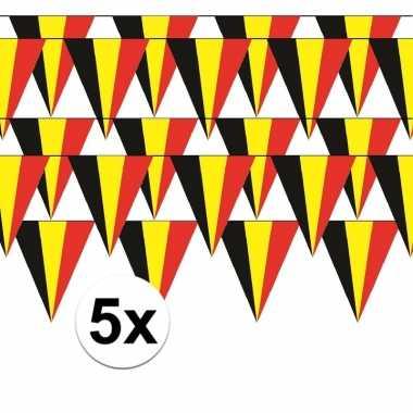 5x belgische vlaggenlijn slinger 5 meter