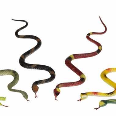 Feestwinkel | 5x enge beestjes plastic slangen van 35 cm morgen amste