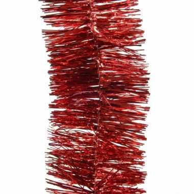 Feestwinkel | 5x kerst lametta guirlandes kerst rood 7 x 270 cm kerst