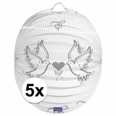 5x lampionnen voor een bruiloft 22 cm
