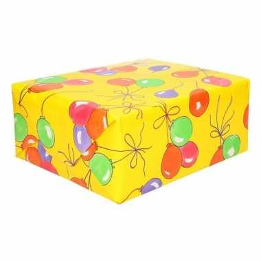 Feestwinkel | 5x rollen ballonnen cadeaupapier 70 x 200 cm morgen amsterdam