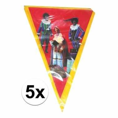 Feestwinkel | 5x sinterklaas vlaggenlijn versiering 5 meter morgen am