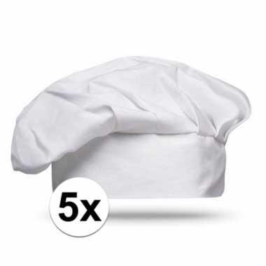 Feestwinkel | 5x witte kookclub chef muts morgen amsterdam