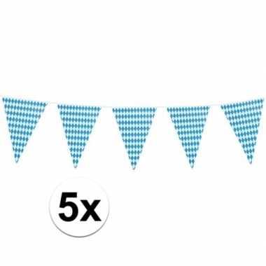 Feestwinkel | 5x xl oktoberfest vlaggenlijnen 8 m morgen amsterdam
