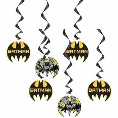 Feestwinkel | 6x batman feest hangdecoratie rotorspiralen morgen amst
