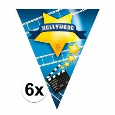Feestwinkel | 6x hollywood thema vlaggenlijnen hollywood morgen amste
