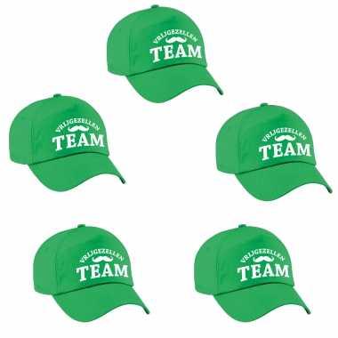 Feestwinkel | 6x vrijgezellen team vrijgezellen petje groen heren morgen amsterdam