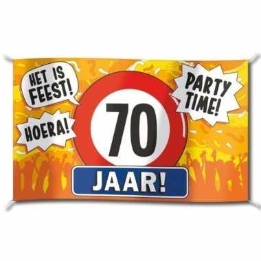 70 jaar versiering banner 100 x 150 cm