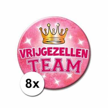 Feestwinkel   8 xxl roze speldjes vrijgezellen team morgen amsterdam