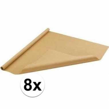 Feestwinkel   8x bruin cadeaupapier 70 x 500 cm morgen amsterdam