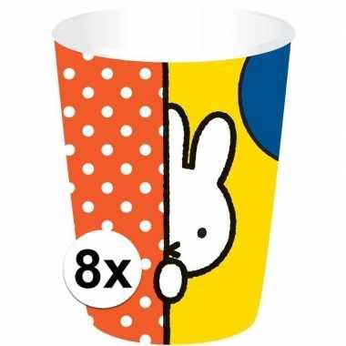 Feestwinkel | 8x nijntje drinkbekers 200 ml kinderverjaardag morgen a