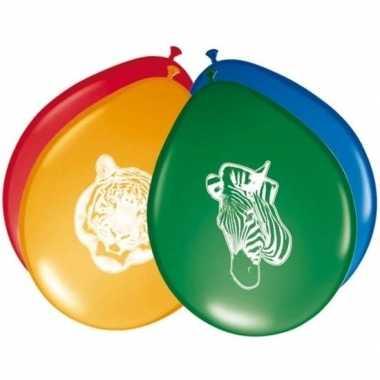Feestwinkel | 8x safari/jungle feest ballonnetjes 27 cm morgen amster