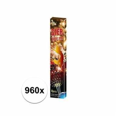 Feestwinkel | 960x party sterretjes 16 cm morgen amsterdam