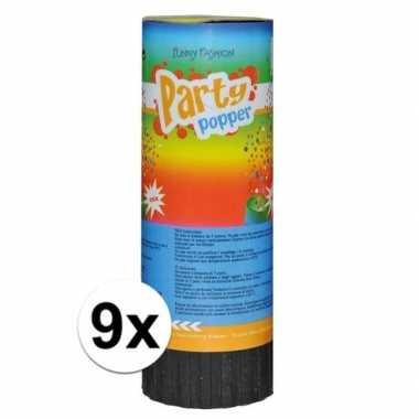 9x voordelige party popper 11cm