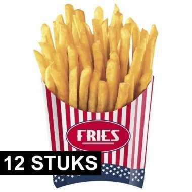 Feestwinkel | amerikaanse friet bakjes 12x stuks morgen amsterdam