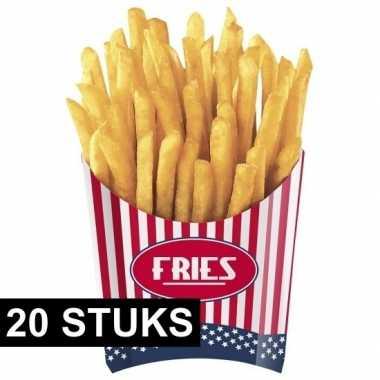 Feestwinkel | amerikaanse friet bakjes 20x stuks morgen amsterdam