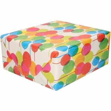 Ballonnen motief cadeaupapier 70 x 200 cm