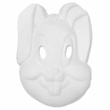 Feestwinkel | basic wit konijnen/hazen masker morgen amsterdam
