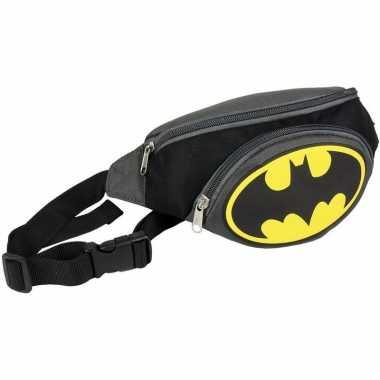 Feestwinkel | batman buideltasje/heuptasje polyester zwart 33 cm morgen amsterdam