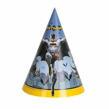 Feestwinkel | batman kartonnen feesthoedjes 8 stuks morgen amsterdam