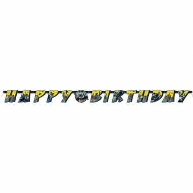 Feestwinkel | batman kinderfeestje letterslinger/wenslijn 180 cm morg