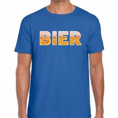 Feestwinkel   bier fun t-shirt blauw voor heren morgen amsterdam
