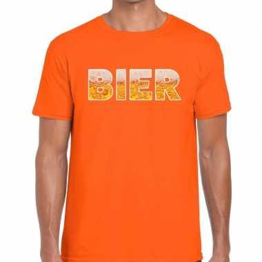 Feestwinkel | bier fun t-shirt oranje voor heren morgen amsterdam