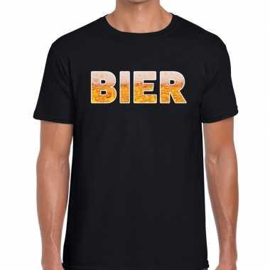 Feestwinkel   bier fun t-shirt zwart voor heren morgen amsterdam